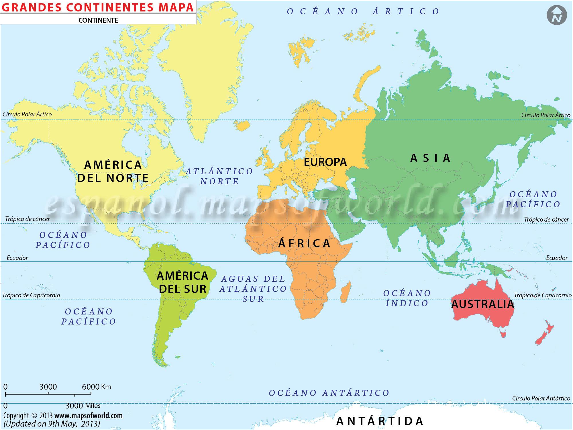 mapas de continentes colouring pages