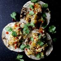 Tacos de Papa y Huevo