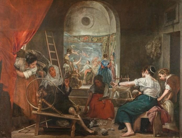 Las hilanderas de Velázquez en El Museo Nacional del Prado