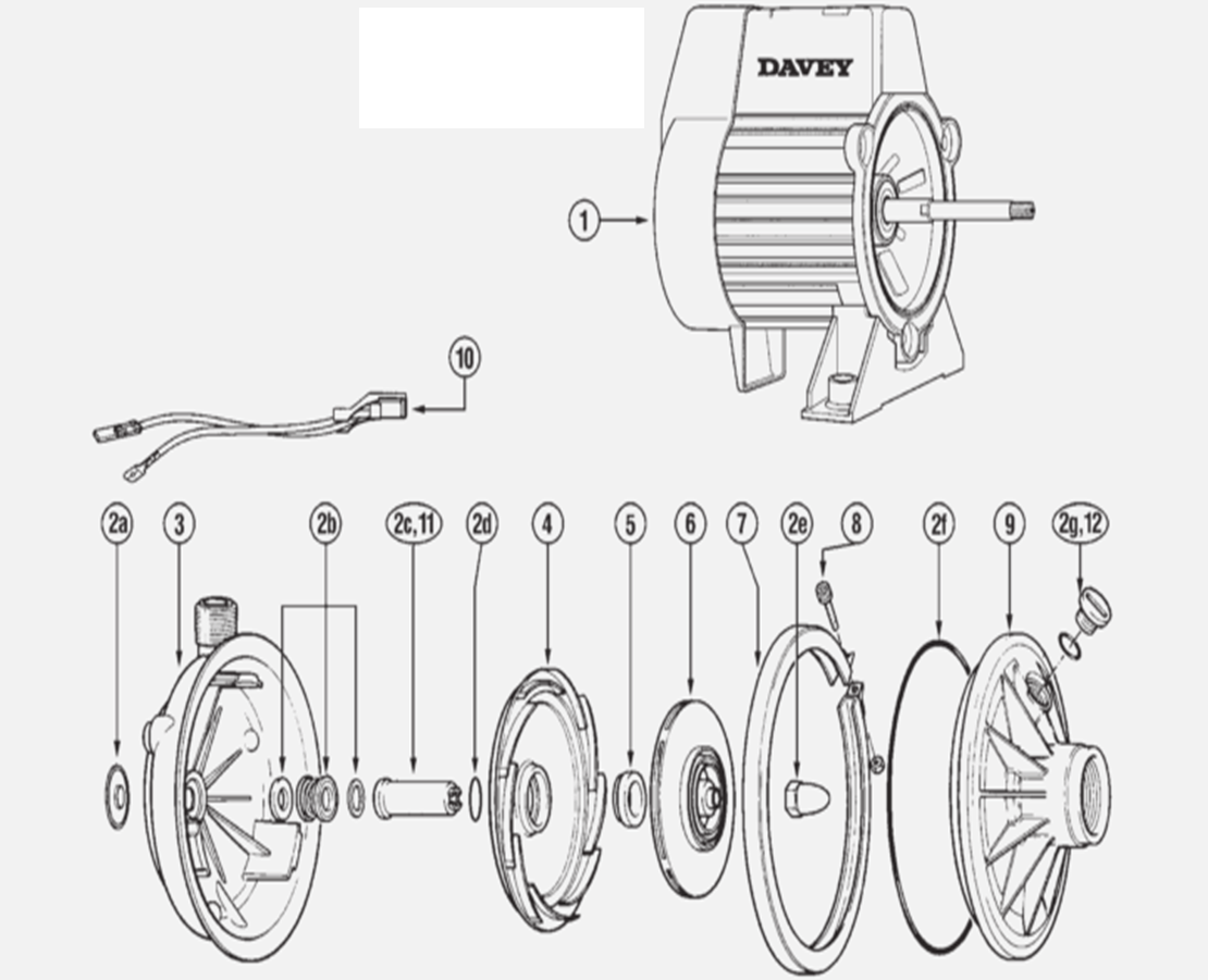 Davey Pumps Spare Parts List