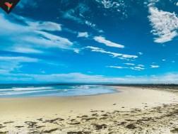 El mar y la playa para nosotros solos.