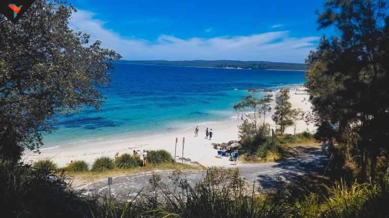 Hyams Beach vista desde arriba