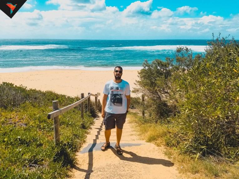 Visita fugaz en Avoca Beach