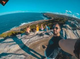 Selfie en un acantilado