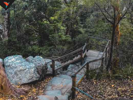 Escaleras hacia la Middle Falls