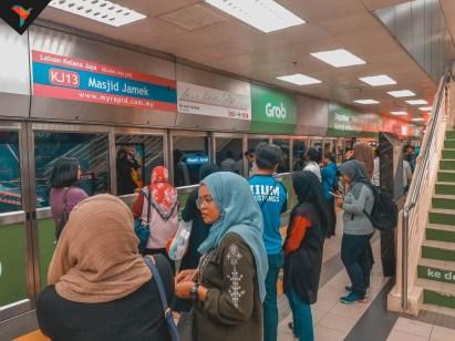 El metro en Kuala Lumpur