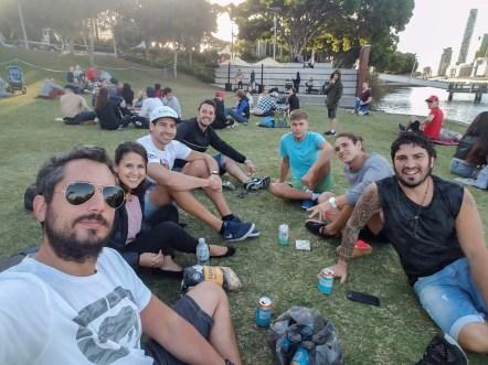 Juntada en el parque con amigos