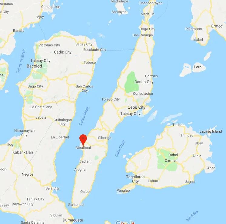 Mapa Moalboal