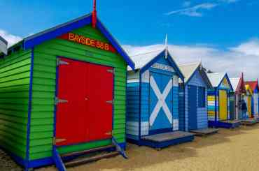 Casitas de colores en Brighton