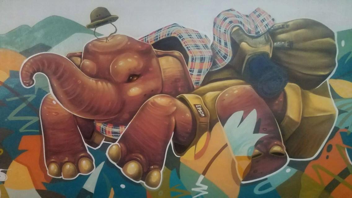 Grafitis en Chiang Mai