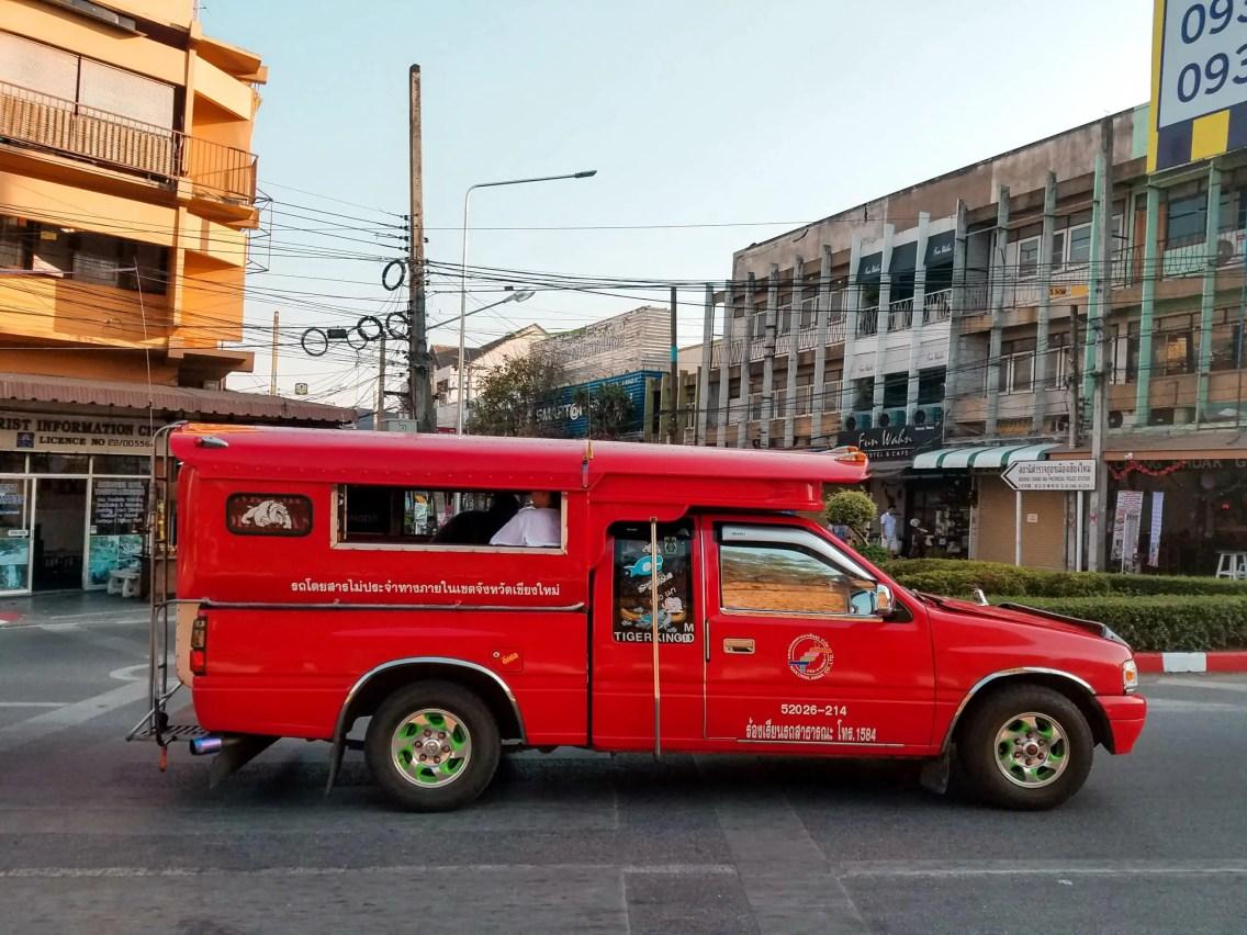 Los taxis de Chiang Mai