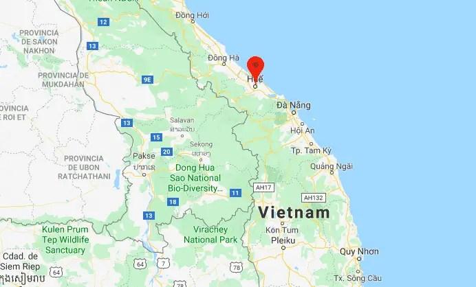 Mapa Hue