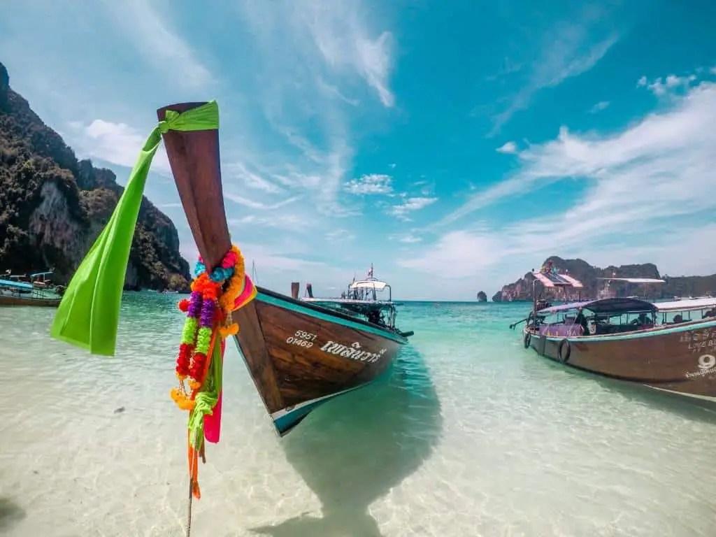 Long Tail en las playas de Koh Phi Phi