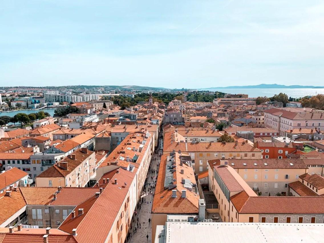Vistas desde el Campanario Zadar