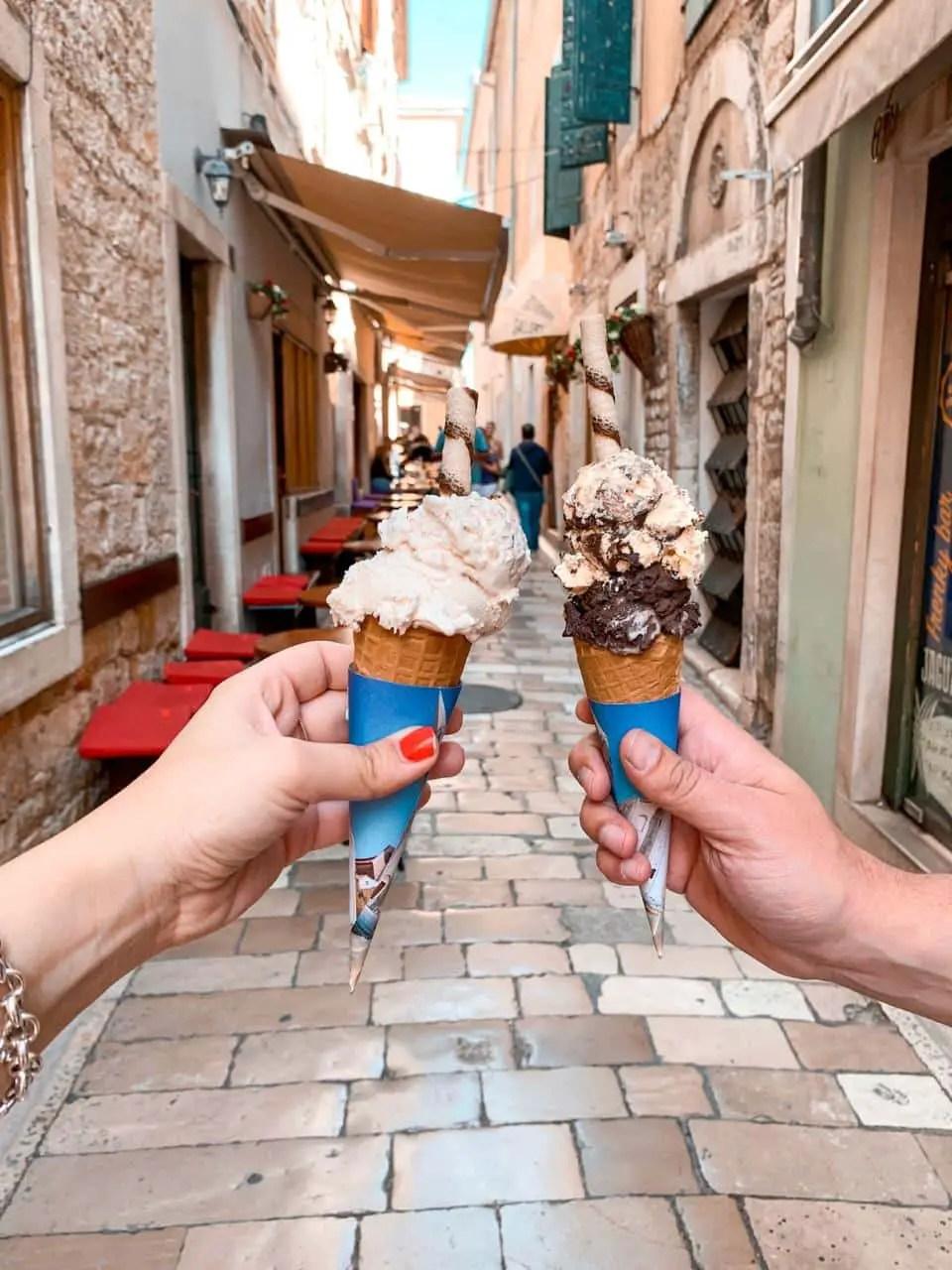 helado-donde comer en zadar
