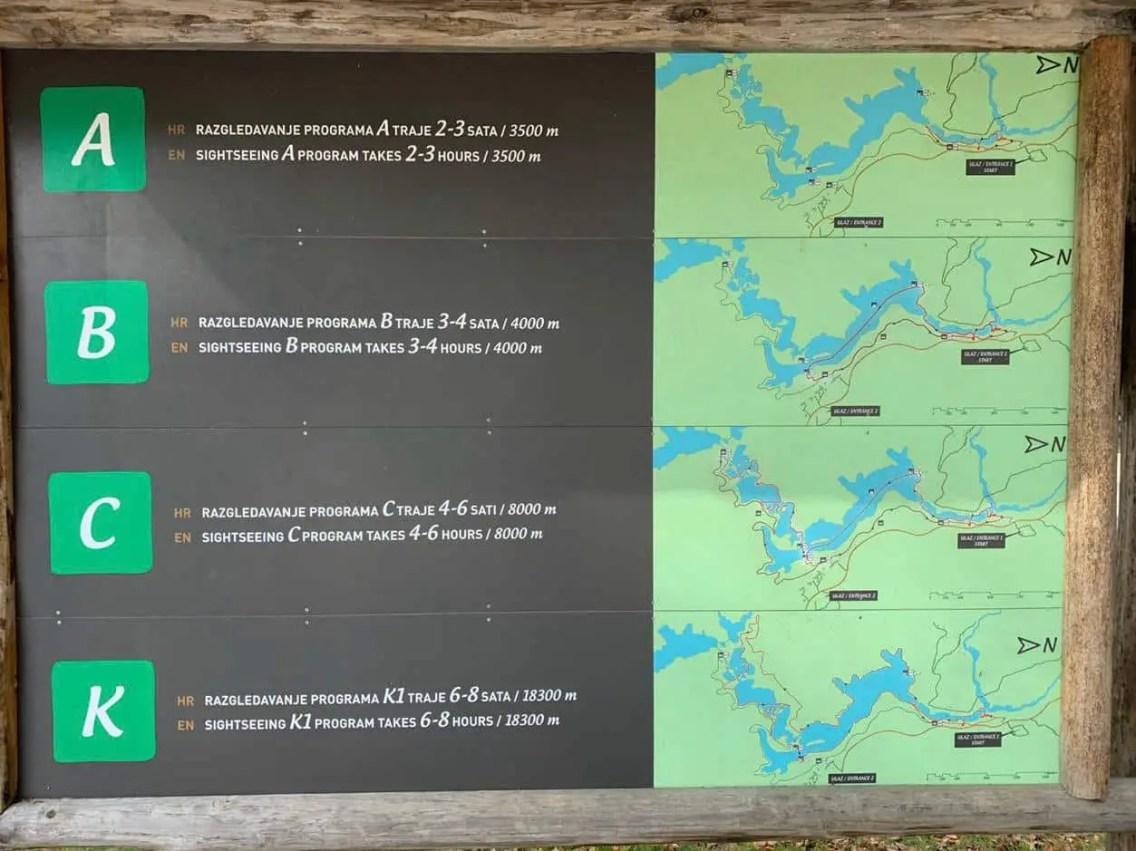Mapa Lagos CIRCUITOS. que ver en Plitvice