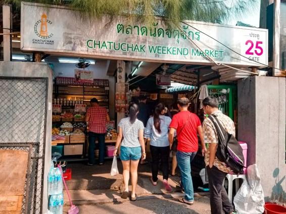 Mercado Chaktuchak durante el fin de semana