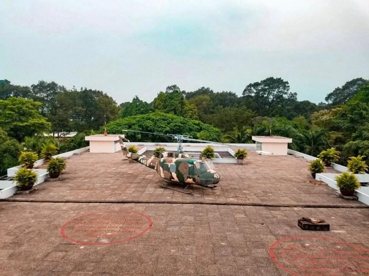 Palacio de la Reunificación: aterrizaje de helicópteros