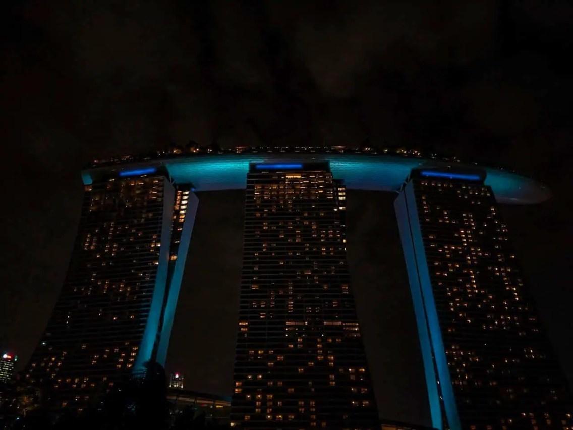 Marina Bay Sands de noche