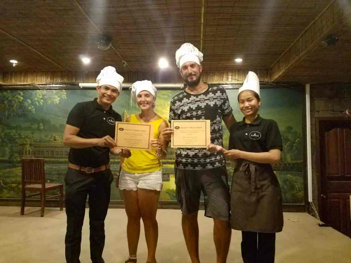 Curso de cocina en Siem Reap