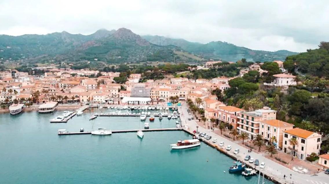 Porto Azzuro, Isla de Elba desde arriba
