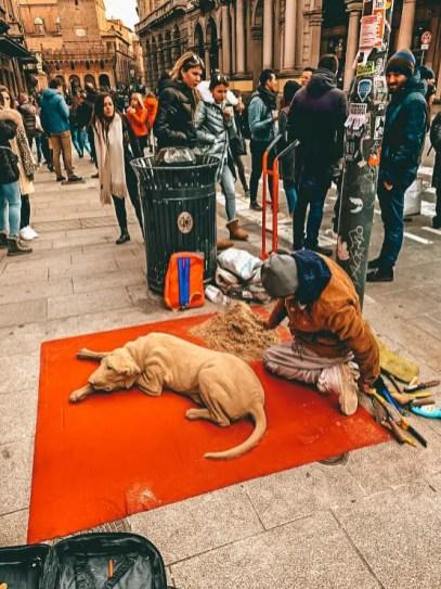 Arte callejero en Bolonia