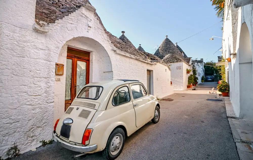 alquilar coche en italia
