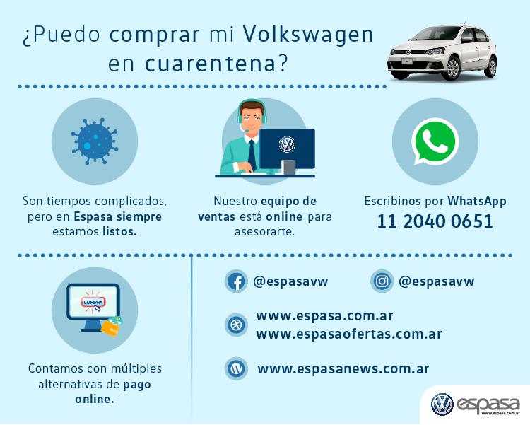 ¿Puedo comprar mi Volkswagen en cuarentena?