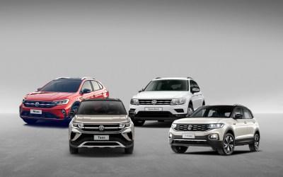 Taos, Nivus, T-Cross y Tiguan Allspace:  los SUVs de Volkswagen.
