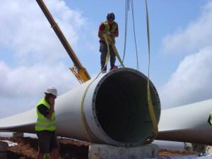 Construcción de un parque eólico