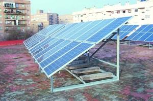 Paneles de energía solar térmica.