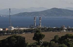 Vista parcial del área industrial del Campo de Gibraltar.