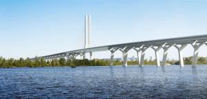 Recreación infográfica del puente.