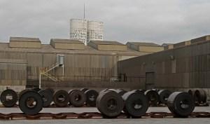 Bobinas en la factoría de Acerinox de Palmones.