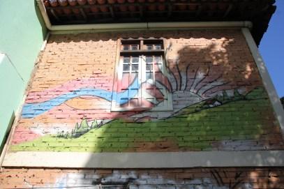 Grafite do segundo andar da casa de Mário. Foto: Rodrigo Neves.