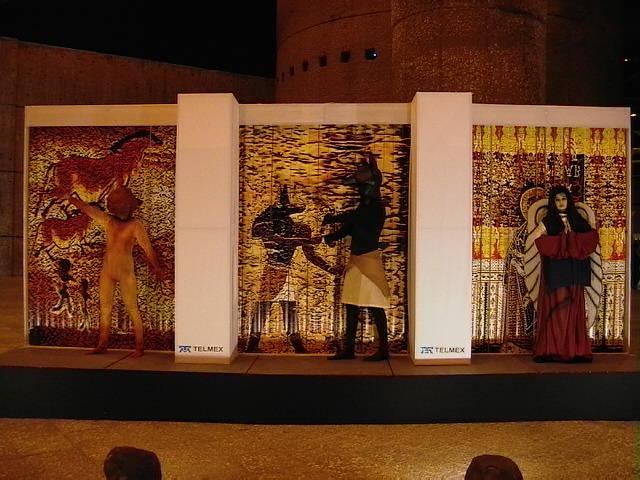 muros, muros vivientes, murales, murales vivientes, personajes, body paint, maquillaje, muros méxico