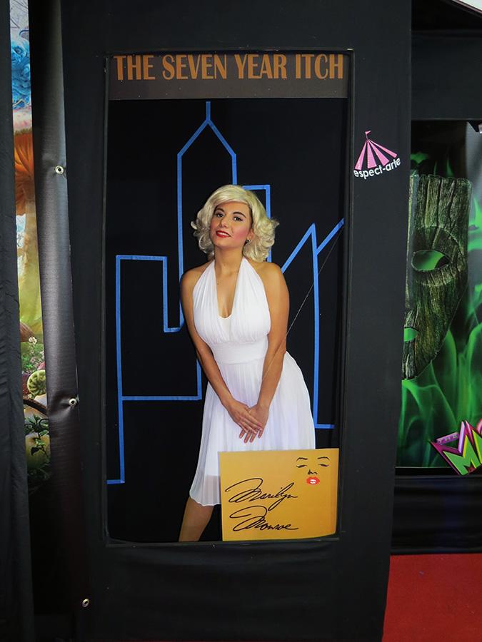 posters, posters vivientes, personajes, body paint, maquillaje, posters méxico