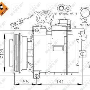 Compresor de Aire Acondicionado de AUDI A4-A6-A8-SKODA Superb-VOLKSWAGEN Passat=DENSO 7SBU16C