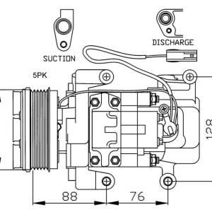 Compresor de Aire Acondicionado de MAZDA 3=PANASONIC H12A1