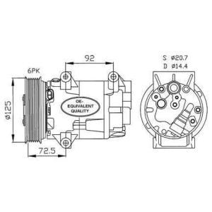 Compresor de Aire Acondicionado de FORD Mondeo III-Transit