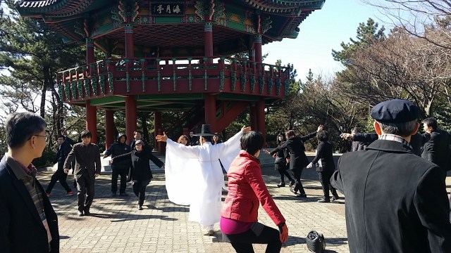 S-ro Monto dancas korean tradician dancon 'Gruo-danco'