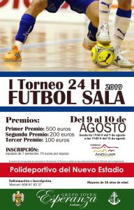 El grupo joven organiza el I Torneo 24 horas de Futbol Sala