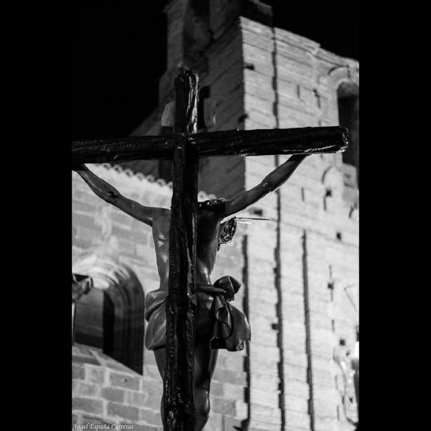 Santísimo Cristo de la Providencia durante su Vía Crucis Penitencial del pasado año 2019