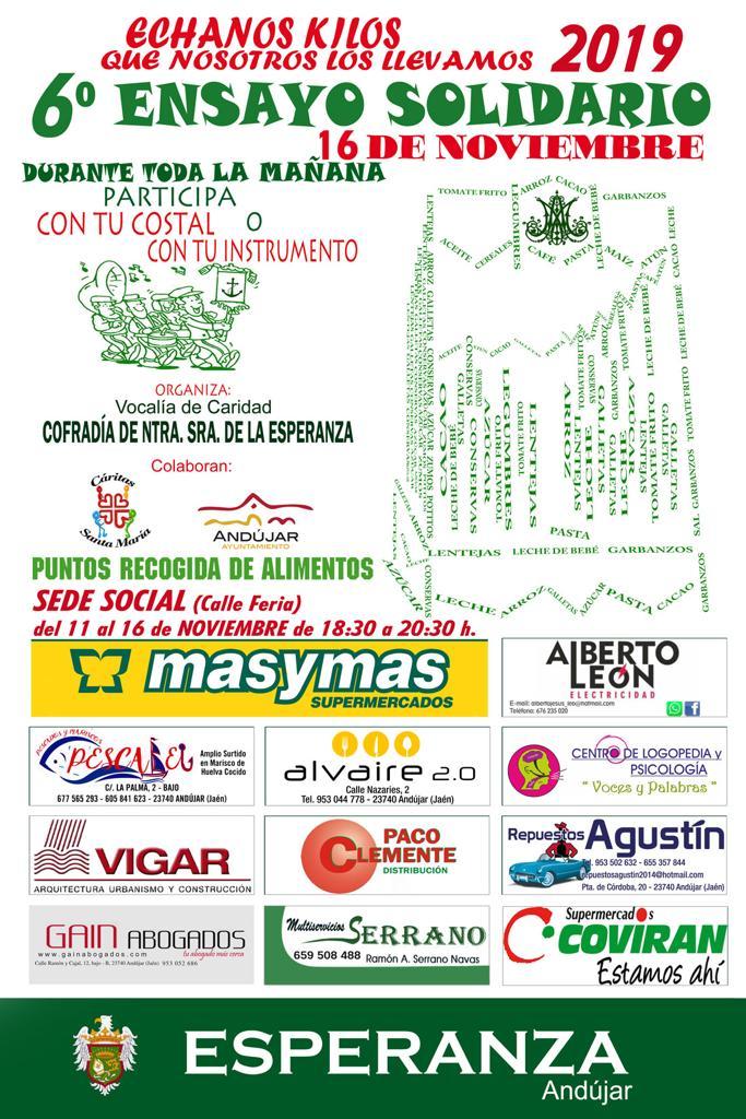 Cartel de la 6ª edición del Ensayo Solidario. Año 2019