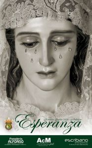 Cartel de la Cofradía de la Esperanza de Andújar para la Semana Santa del año 2020