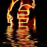 Symbolbild Euro brennt