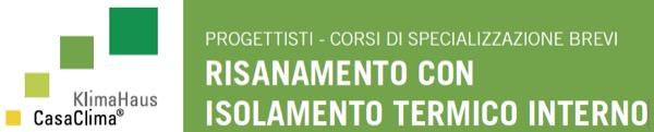 Corso di specializzazione RISANAMENTO CON ISOLAMENTO TERMICO INTERNO