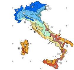 tipi climatici italiani