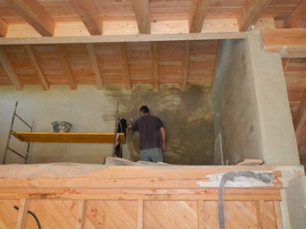Finitura interna parete - Foto posa intonaco interno – Zona Climatica E – GG 2173 – Porano (Terni) 36