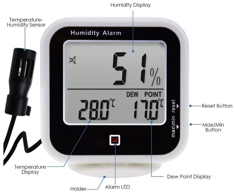 contro la muffa - Eliminare la muffa in casa misurando il punto di rugiada con 30€ 44